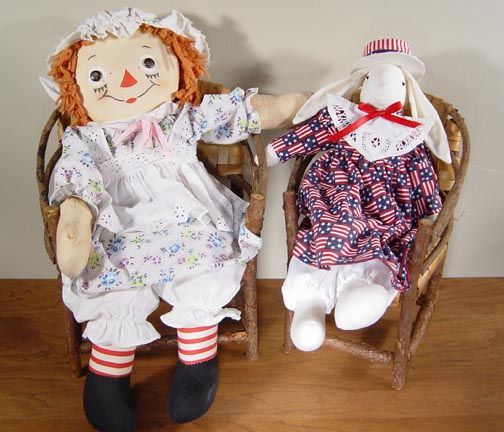 TWIG CHAIR AND BENCH LOOKS GREAT WITH YOUR FAVORITE DOLLS OR STUFFED ...