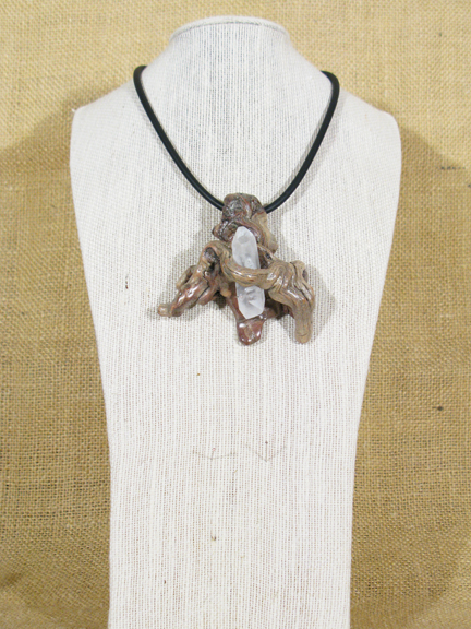 ROOT & QUARTZ CRYSTAL WITH RUBBER COLLAR