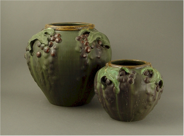 EPHRAIM POTTERY GRAPES OF WRATH POTTERY VASE