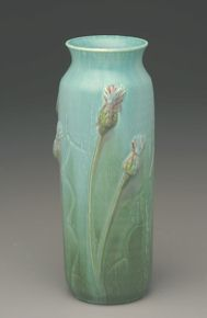 THISTLE ARTS AND CRAFTS MOVEMENT VASE