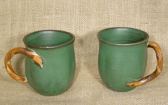 FIREWORKS VINE POTTERY MUGS - SET OF 2