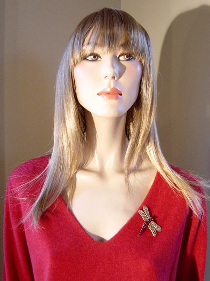 DRAGONFLY PIN WITH CASHMERE