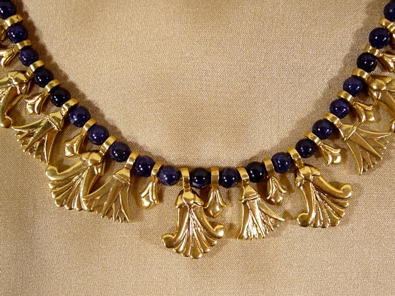 EGYPTIAN NECKLACE DETAIL