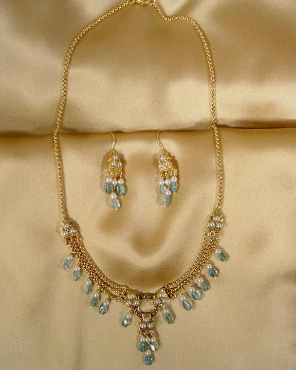 SOUTH INDIAN CHOLA APATITE JEWELRY