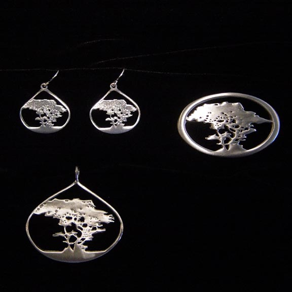PEWTER CYPRESS JEWELLERY