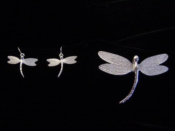 PEWTER DRAGONFLY JEWELLERY