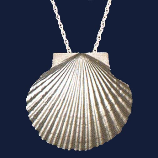 santiago grande de gold necklace products scallop camino shell pendant solid