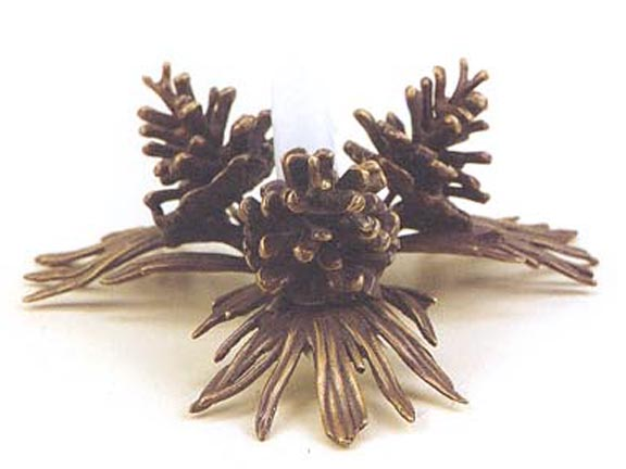 PINECONE CANDLESTICK HOLDER