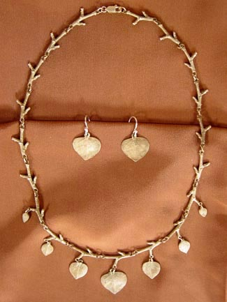 BRONZE ASPEN LEAF JEWELRY