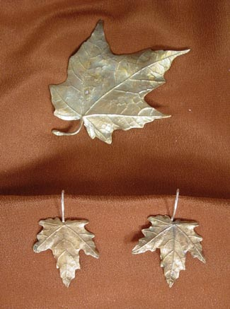 MAPLE LEAF BRONZE JEWELRY