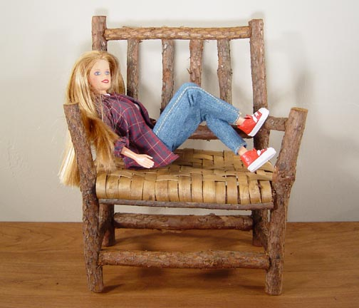 TWIG CHAIR AND BENCH LOOKS GREAT WITH DOLLS