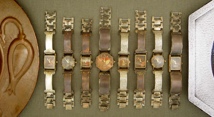 COPPER AND SILVER CITIZEN WATCHES