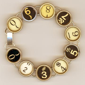 TYPEWRITER ABC BRACELET