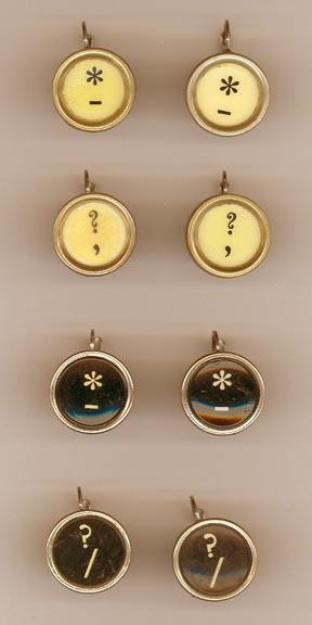 TYPEWRITER LETTER EARRINGS